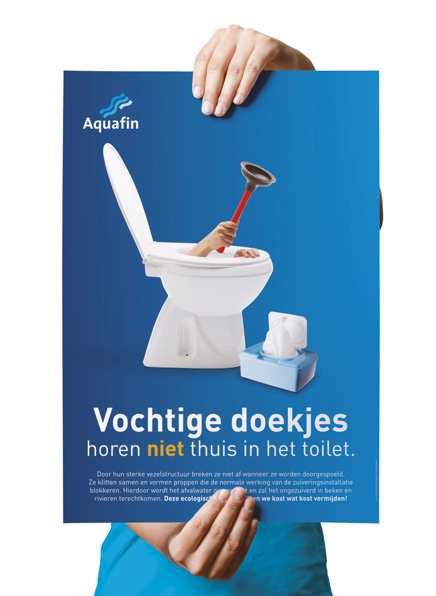 AQUAFIN poster wc-pot